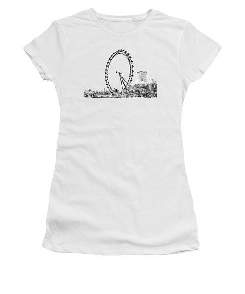 London Eye Women's T-Shirt (Junior Cut) by ISAW Gallery
