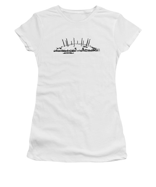 London O2 Arena Women's T-Shirt (Junior Cut) by ISAW Gallery