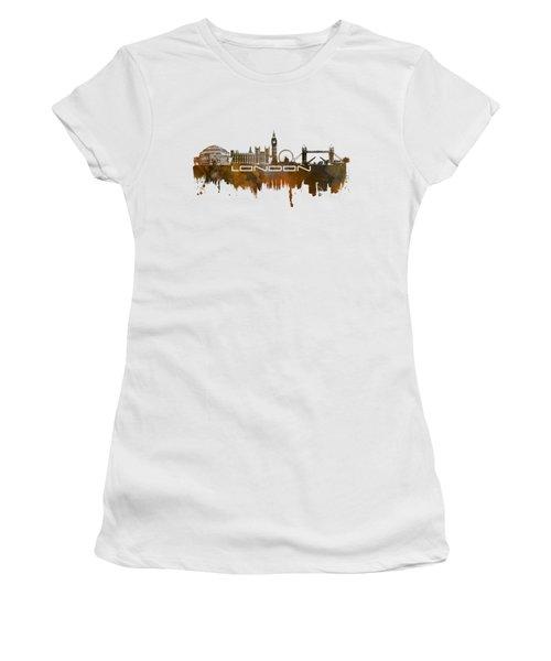 London Skyline City Brown Women's T-Shirt (Junior Cut) by Justyna JBJart