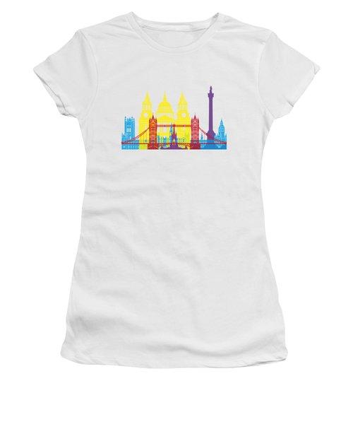 London Skyline Pop Women's T-Shirt (Athletic Fit)