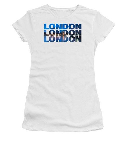 London Text Women's T-Shirt (Junior Cut) by Matt Malloy