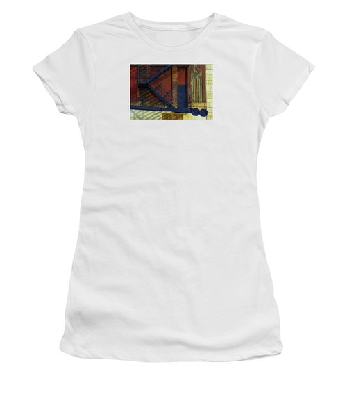 Lonely Days Parking Garage V2 Women's T-Shirt (Junior Cut) by Raymond Kunst