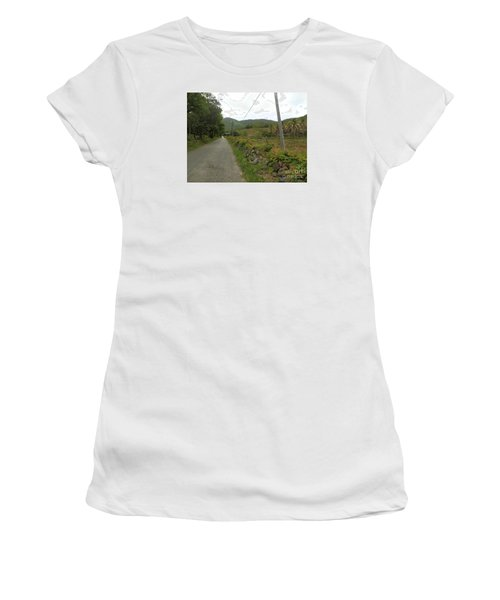 Long Road Into Colombier Women's T-Shirt (Junior Cut) by Margaret Brooks
