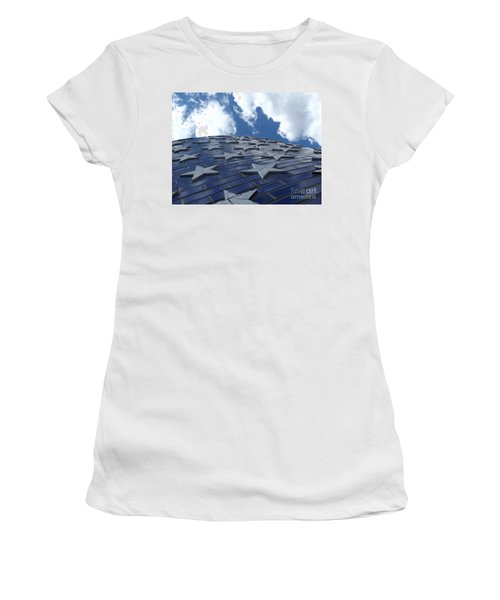 Lookig Up At The Stars And Blue Sky Women's T-Shirt (Athletic Fit)