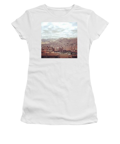 Looking Out Across Cusco At The Start Women's T-Shirt (Athletic Fit)