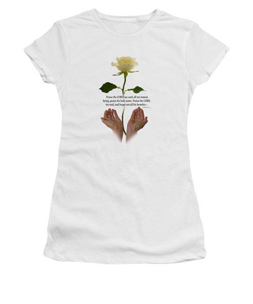 Lord, O My Soul Women's T-Shirt (Junior Cut) by Ann Lauwers