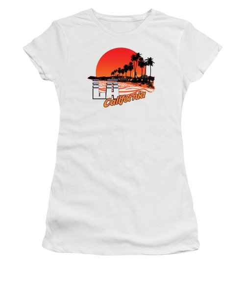 Los Angeles California Women's T-Shirt (Athletic Fit)