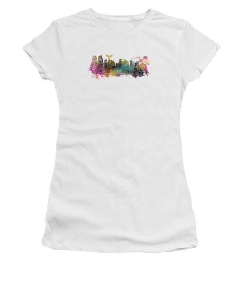 Los Angeles Skyline Women's T-Shirt (Junior Cut) by Justyna JBJart