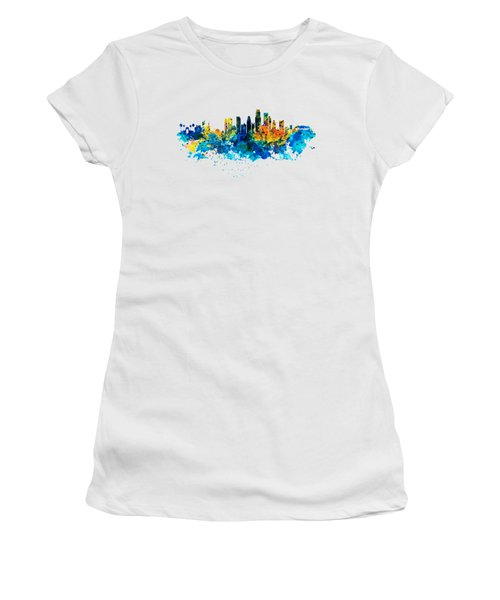 Los Angeles Skyline Women's T-Shirt (Junior Cut) by Marian Voicu