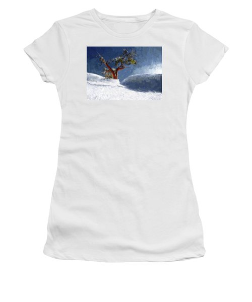 Lost In The Snow Women's T-Shirt (Athletic Fit)