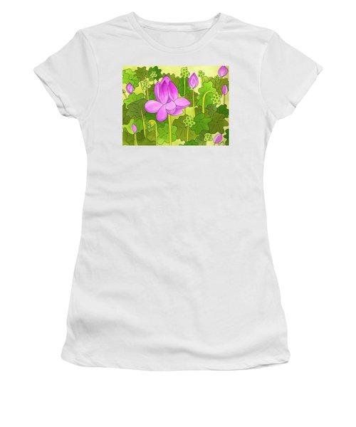 Lotus And Waterlilies Women's T-Shirt