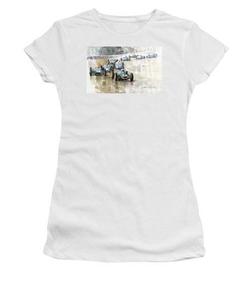 1961 Germany Gp  #7 Lotus Climax Stirling Moss Winner  Women's T-Shirt