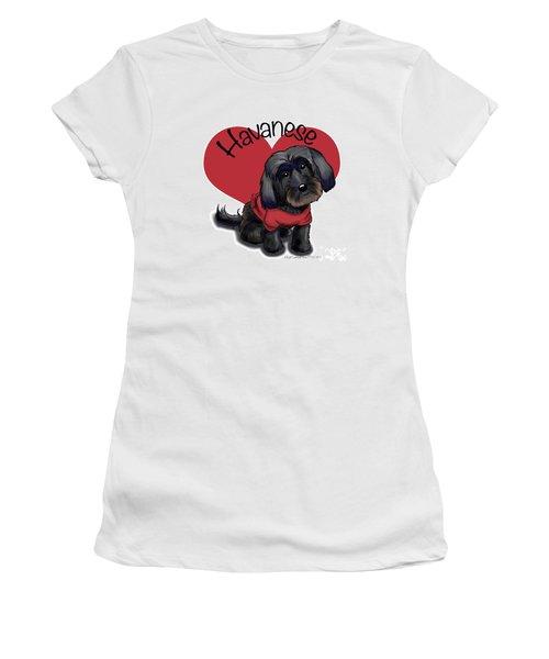 Lovable Black Havanese Women's T-Shirt