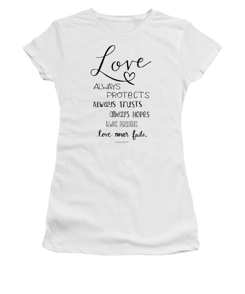 Women's T-Shirt featuring the drawing Love Always by Nancy Ingersoll