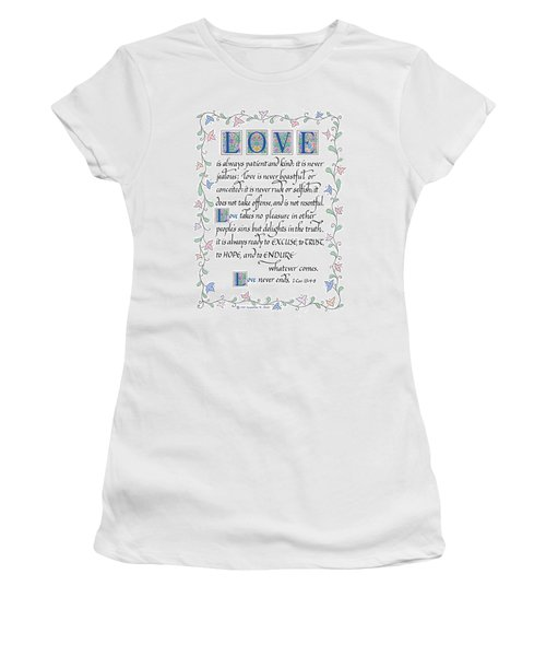Love Is Always Patient-with Border Women's T-Shirt