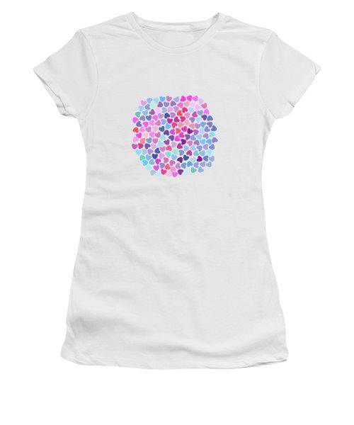 Love Love Love Women's T-Shirt (Junior Cut) by Amir Faysal
