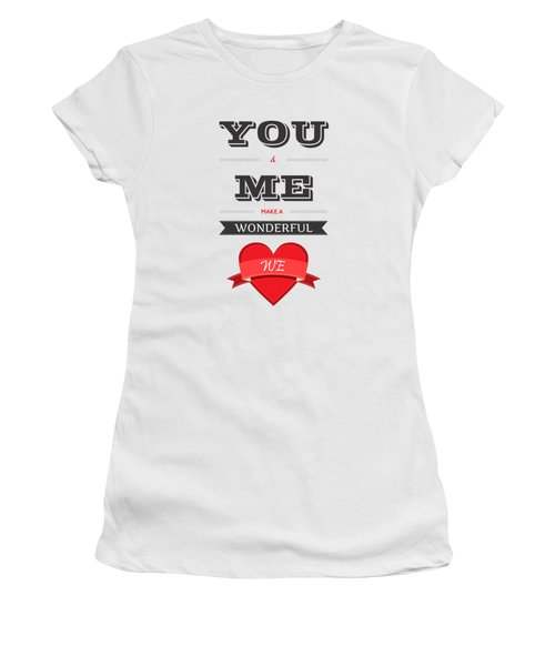 Love Lyrics Quotes Typography Quotes Poster Women's T-Shirt (Athletic Fit)