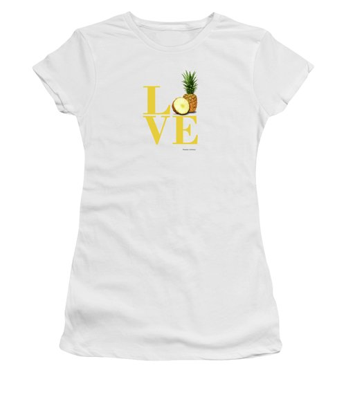 Love Pineapple Women's T-Shirt (Athletic Fit)