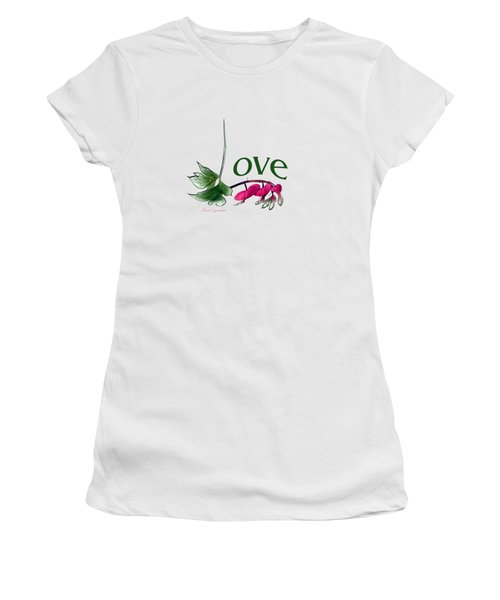 Women's T-Shirt (Junior Cut) featuring the digital art Love Shirt by Ann Lauwers