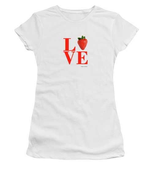 Love Strawberry Women's T-Shirt (Athletic Fit)