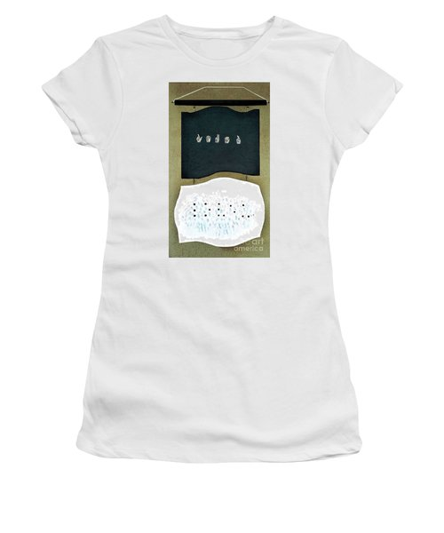 Women's T-Shirt (Junior Cut) featuring the painting Love U by Fei A