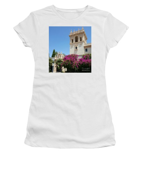 Lovely Blooming Day In Balboa Park San Diego Women's T-Shirt (Junior Cut) by Jasna Gopic