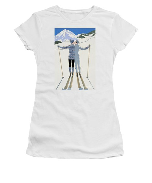 Lovers In The Snow Women's T-Shirt
