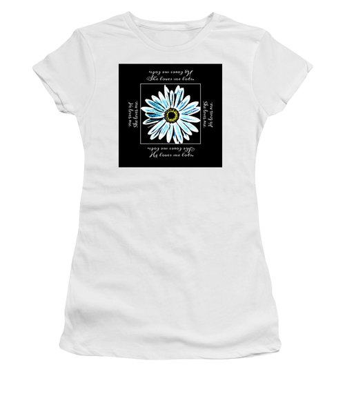 Loves Me In Blue Women's T-Shirt (Athletic Fit)