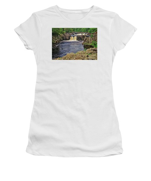 Low Force Waterfall, Teesdale, North Pennines Women's T-Shirt