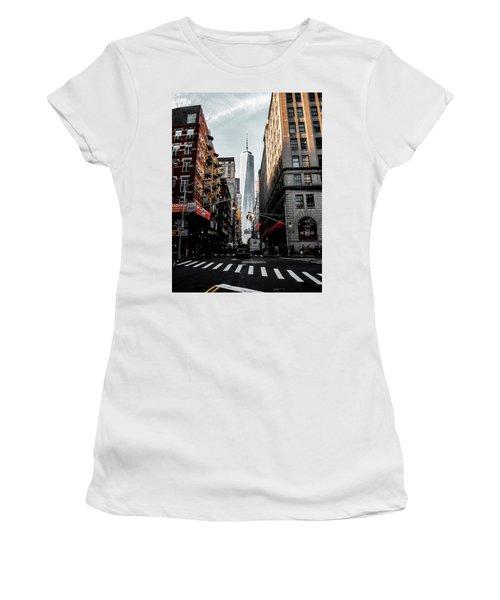 Lower Manhattan One Wtc Women's T-Shirt