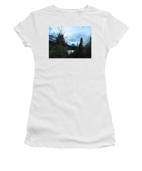 Lower Two Med Lake Through The Trees Women's T-Shirt (Athletic Fit)