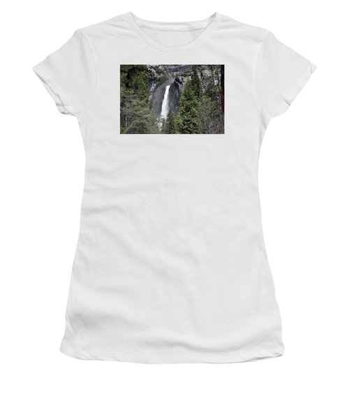 Lower Yosemite Falls Women's T-Shirt (Athletic Fit)
