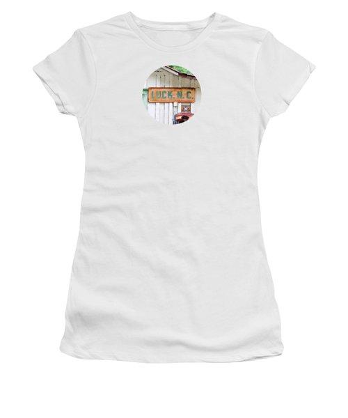 Luck Nc T Shirt Women's T-Shirt (Junior Cut) by Valerie Reeves