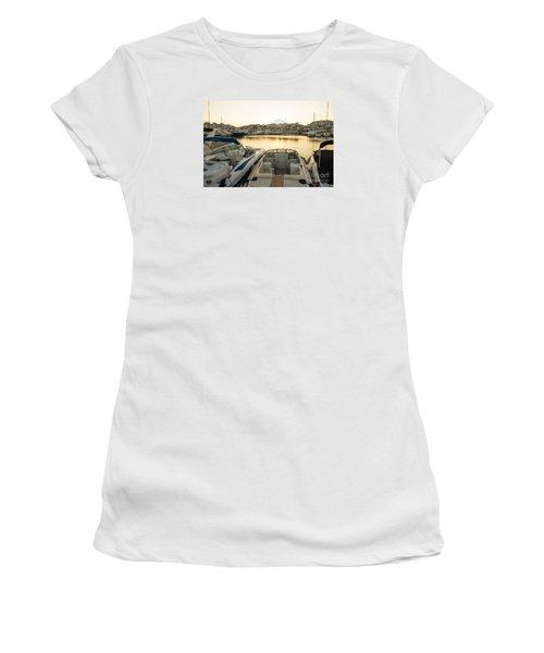 Luxury Yachts Puerto Banus Women's T-Shirt (Junior Cut) by Perry Van Munster