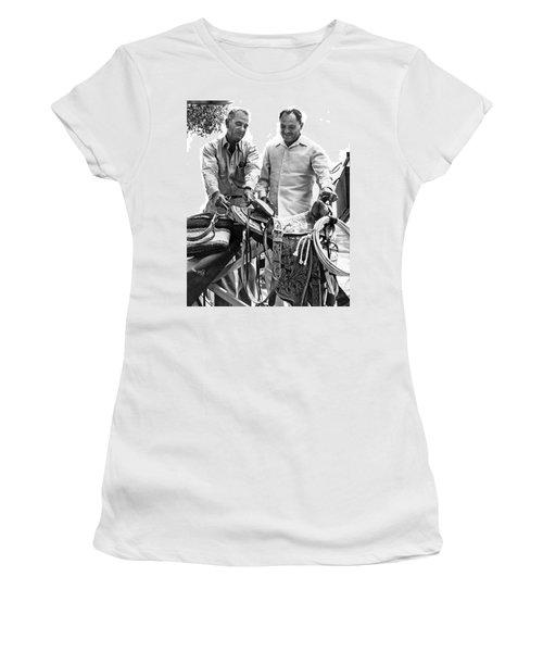 Lyndon Johnson Presents Saddle Women's T-Shirt