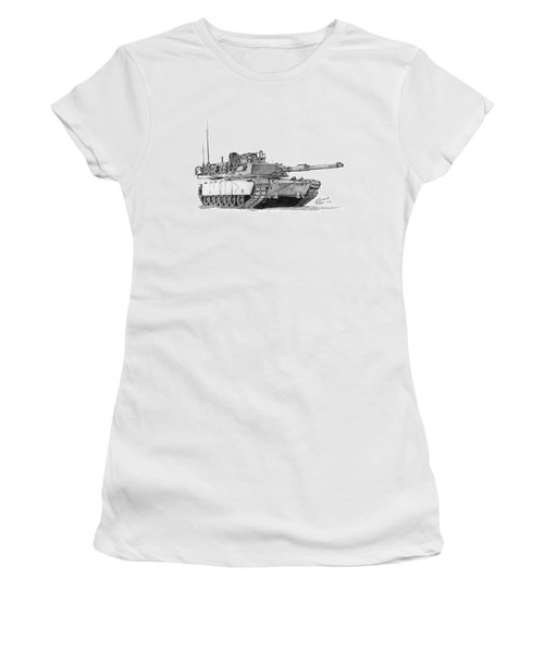 M1a1 B Company Commander Tank Women's T-Shirt (Athletic Fit)