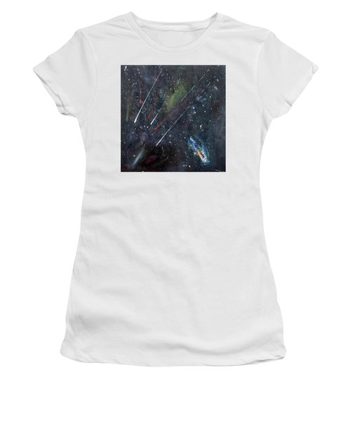 Women's T-Shirt featuring the painting M51 by Michael Lucarelli