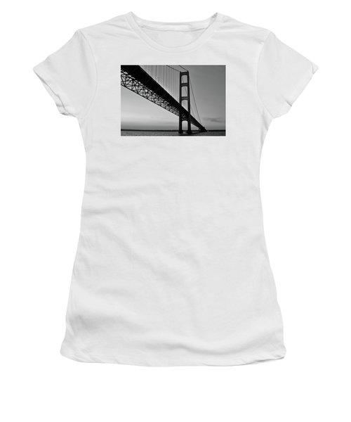 Mackinac Bridge At Sunset Women's T-Shirt