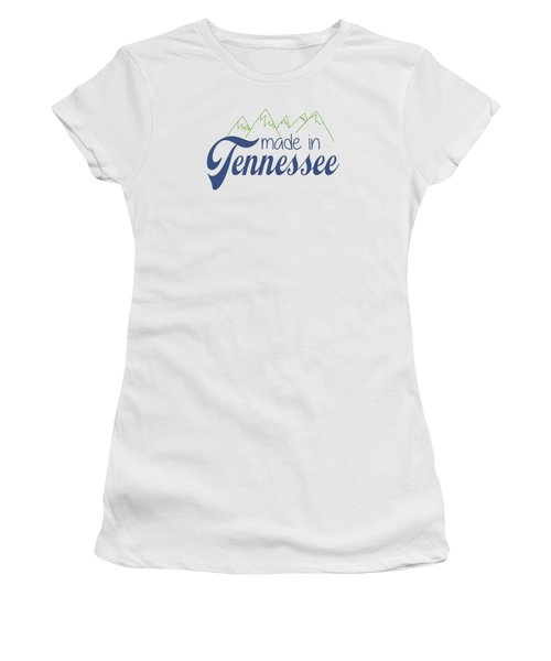 Made In Tennessee Blue Women's T-Shirt (Athletic Fit)