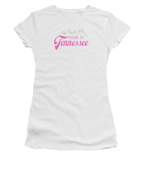 Women's T-Shirt (Junior Cut) featuring the digital art Made In Tennessee Pink by Heather Applegate