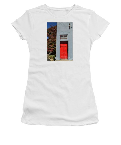 Madison Red Fire House Door Women's T-Shirt (Athletic Fit)