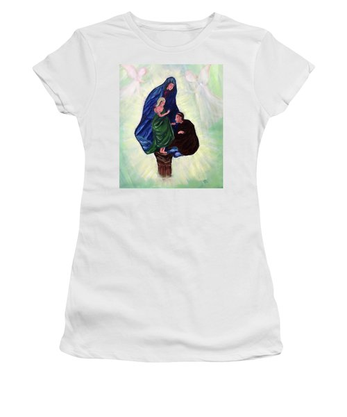 Madonna And Child With St Anthony Women's T-Shirt (Athletic Fit)