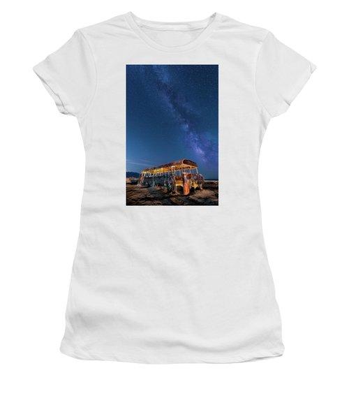 Magic Milky Way Bus Women's T-Shirt