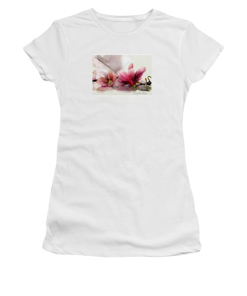 Magnolien .... Women's T-Shirt (Junior Cut) by Jacqueline Schreiber