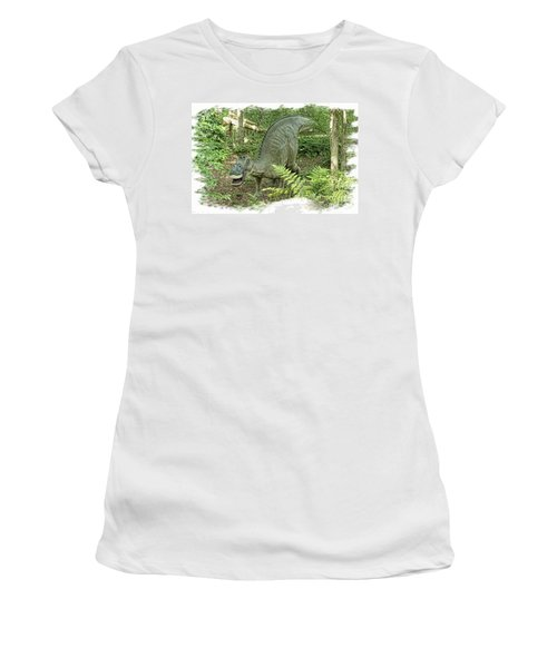 Maiasaura Poster Women's T-Shirt (Athletic Fit)