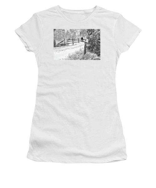 Mailbox Snow Women's T-Shirt