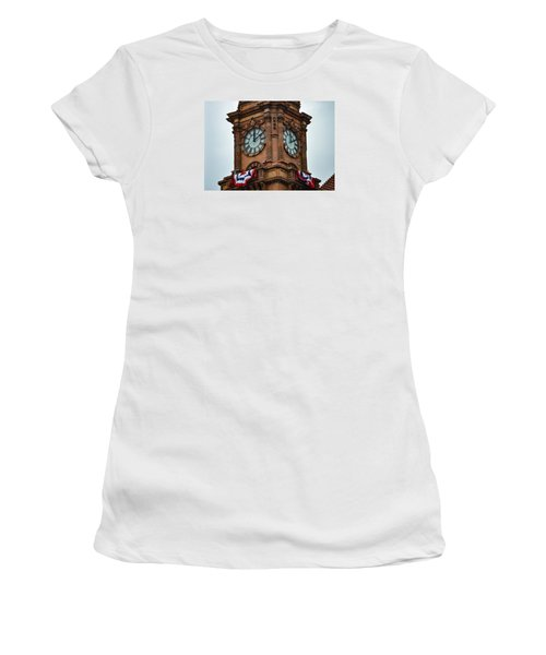 Main Street Station Women's T-Shirt (Athletic Fit)
