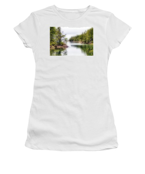 Women's T-Shirt (Athletic Fit) featuring the photograph Maine Cove  by Betty Pauwels
