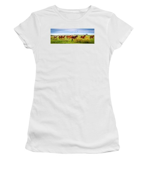 Women's T-Shirt featuring the photograph Making A Diner Run by Melinda Ledsome