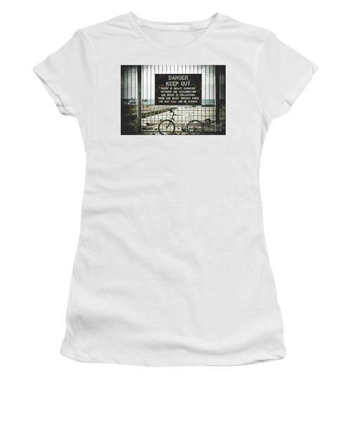 Women's T-Shirt (Junior Cut) featuring the photograph Mala Wharf Lahaina Maui Hawaii by Sharon Mau